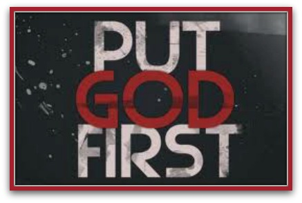 when you put god first in your life